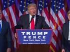 'Serei presidente para todos os americanos', diz Trump após vitória