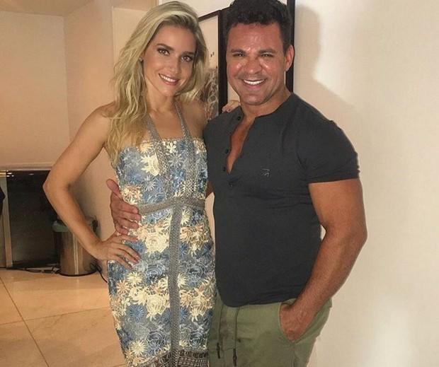 Monique Alfradique e Eduardo Costa (Foto: Reprodução/Instagram)