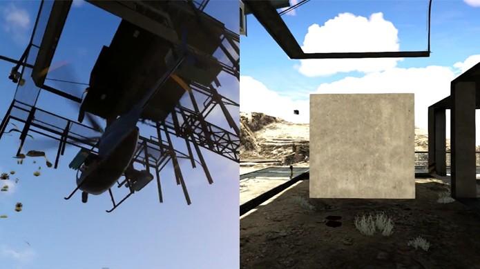 Misterioso Monte Chiliad ganhou um novo e estranho cubo (Foto: Reprodução: YouTube)