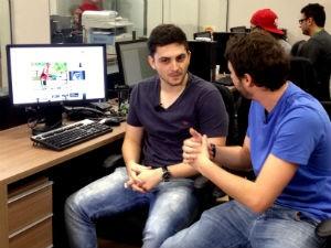 Equipe do globoesporte.com comenta assuntos da semana (Foto: Luísa Konescki/RBS TV)