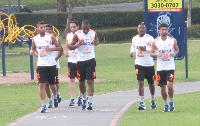 Treino Flamengo Parque do Barigui (Foto: Thales Soares)