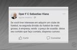 Pela rede social, clube de Mato Grosso é colocado à venda
