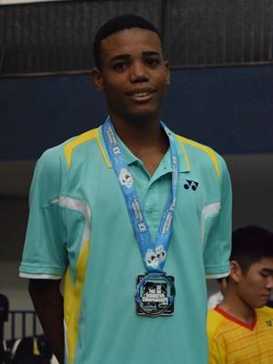 Artur Pomoceno é medalha de prata no Pan-Americano de Badminton (Foto: Hildengard Meneses/CBBd)