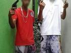 Jovem posta foto de arma na internet e é preso com pistola e droga no DF