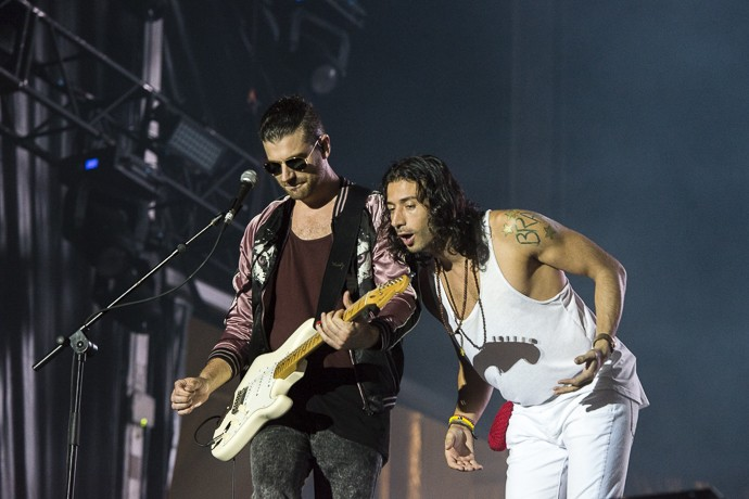 A banda é conhecida pelo grande sucesso 'Rude' (Foto: Ellen Soares / Gshow)