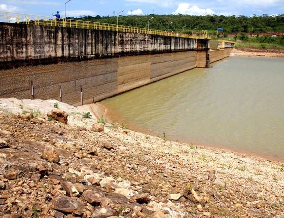 Vista da nível da barragem do Rio Descoberto, na BR-070,no Distrito Federal,Brasilia (Foto: Arthur Menescal/Esp. CB/D.A Pres)