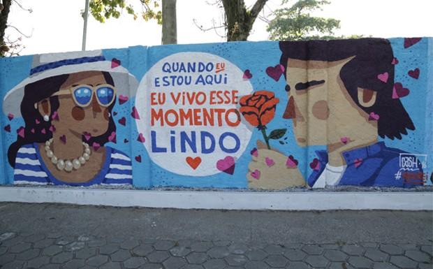 Muro grafitado Roberto Carlos