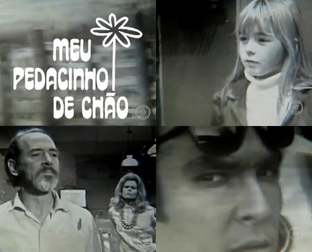 Cenas do primeiro capítulo de 'Meu pedacinho de chão', em 1971 (Foto: Reprodução/Memória Globo)