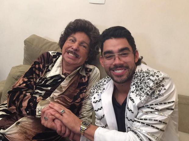 Cauby Peixoto e Gabriel Diniz (Foto: Reprodução/Instagram)