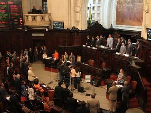 Plenário da Alerj durante discussão na reabertura dos trabalhos legislativos em 2016 (Foto: Arquivo: Thiago Lontra/Divulgação Alerj)