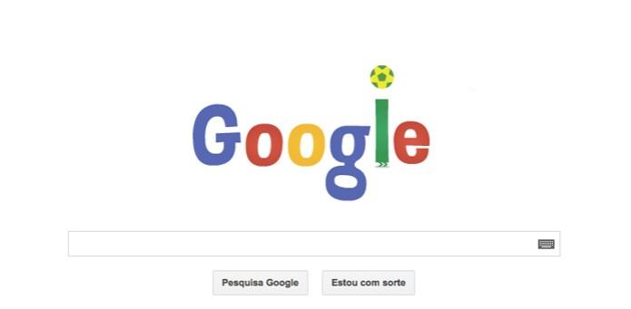 Doodle do Google faz embaixadinhas (Foto: Reprodução/ Google)