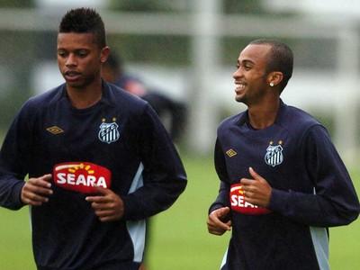 Wesley e André (Foto: Divulgação / Santos FC)
