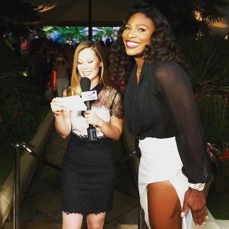 Tenista Serena Williams na festa antes de Wimbledon (Foto: Reprodução / Instagram)