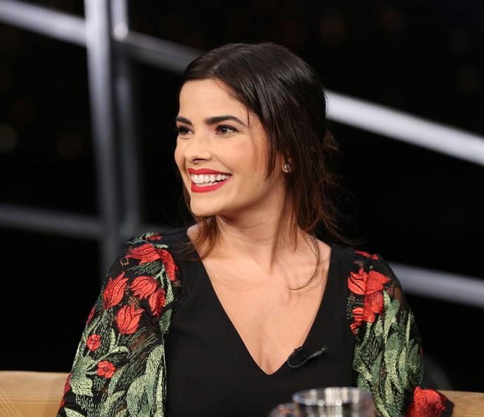 Vanessa Giácomo participa da gravação do 'Programa do Jô' (Foto: Carol Caminha/Gshow)