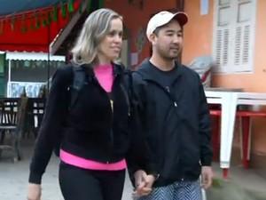 Frio e tranquilidade atraíram Ricardo e Alessandra a Visconde Mauá, em Resende, RJ (Foto: Reprodução/TV Rio Sul)