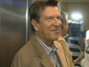 Conselheiro afastado do Tribunal de Contas do DF Domingos Lamoglia, em 2012 (Foto: TV Globo/Reprodução)