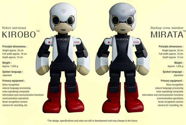 Imagem dá detalhes sobre o Kirobo e o Mirata (Foto: Divulgação/Kibo Robot Project)