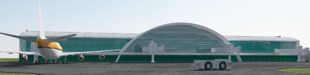 Imagem mostra como deve ficar o aeroporto de Foz do Iguaçu em 2019 (Foto: Fundo Iguaçu / Divulgação)