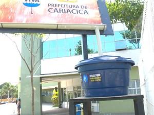 Sistema de coleta de água (Foto: Reprodução/ TV Gazeta)
