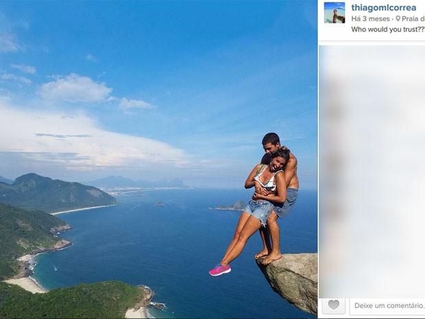 Thiago Correa teve quase 40 mil curtidas em sua foto no Telégrafo (Foto: Reprodução/Instagram)