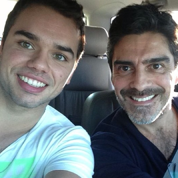 Junno Andrade com o filho, Vinícius (Foto: Reprodução/Instagram)