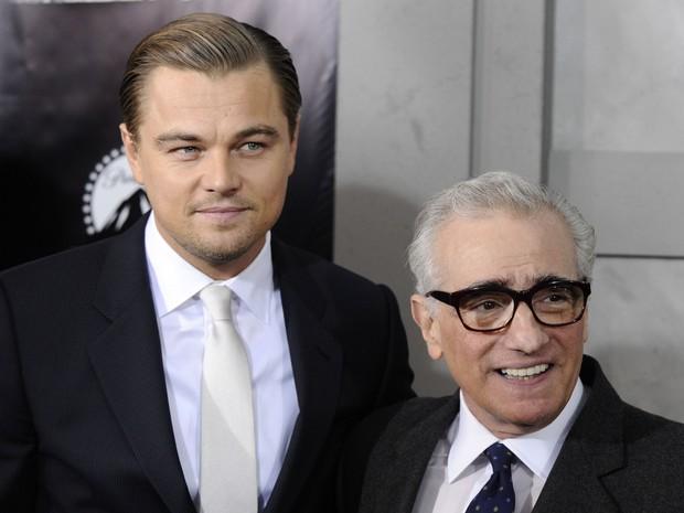 """O ator Leonardo DiCaprio e o diretor Martin Scorsese comparecem à estreia de """"Ilha do medo"""", em 2010 (Foto: Peter Kramer/AP Photo)"""