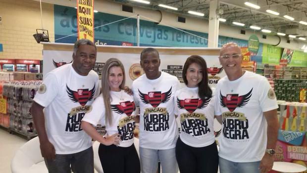 Ídolos do Fla, Andrade, Adílio e Julio César reúnem torcedores em Sergipe (Foto: Arquivo pessoal)