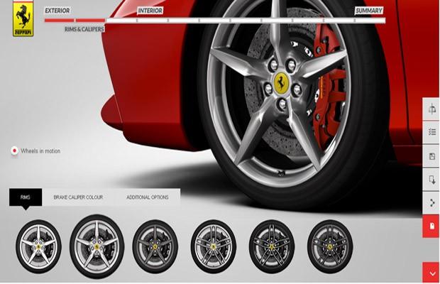 Configurador online Ferrari 488 GTB  (Foto: Divulgação)