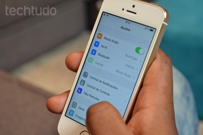 Como desativar o bloqueio automático da tela do iOS (Foto: Luciana Maline/TechTudo)