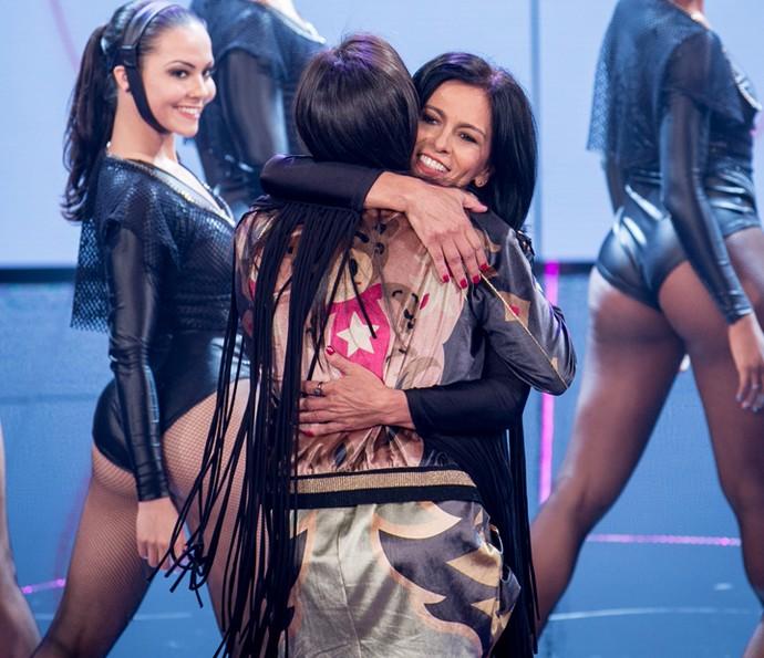 Anitta agradece à mãe pela  homenagem (Foto: Isabella Pinheiro/Gshow)