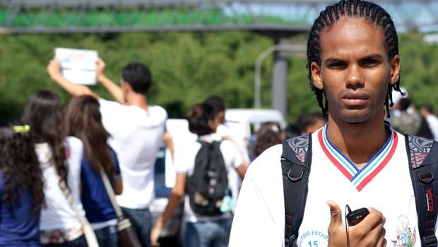 Estudante Bahia greve Salvador (Foto: Egi Santana/G1)
