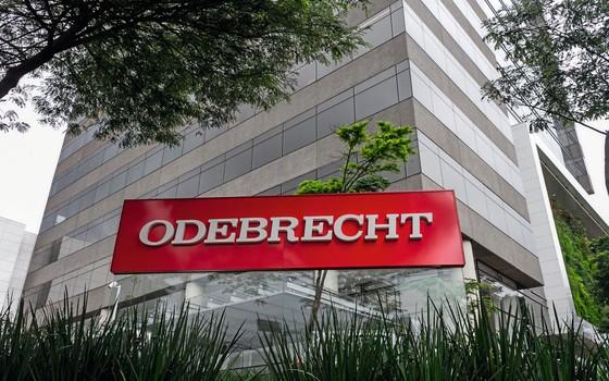 Fachada do prédio da construtora  Odebrecht (Foto:  Marivaldo Oliveira/Codigo19/Folhapress)