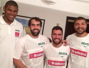 Felício, Benite, Gegê e Olivinha no treino da seleção brasileira (Foto: Reprodução Instagram)