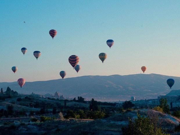balões na capadócia (Foto: salvejorge/tvglobo)