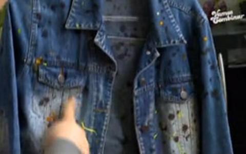 Transforme sua jaqueta jeans usando tinta para tecido