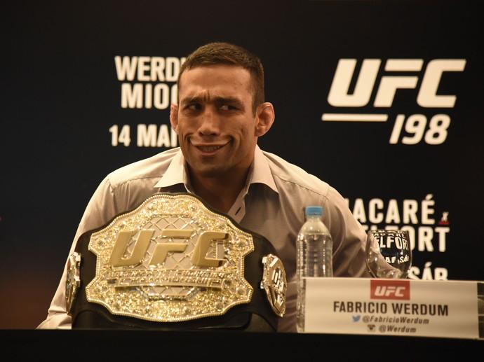 Fabricio Werdum Coletiva UFC 198 (Foto: André Durão)