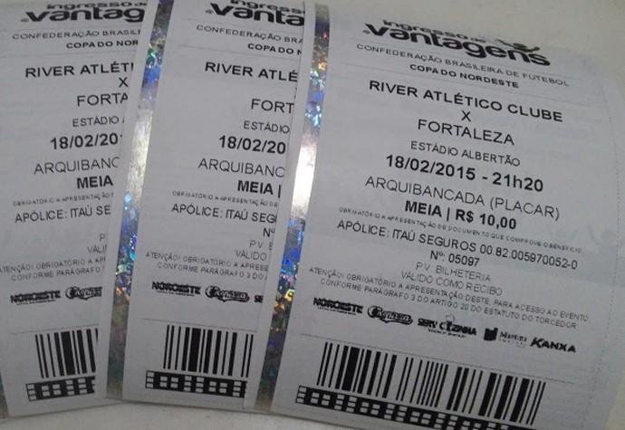 ingressos River-PI x Fortaleza (Foto: Reprodução/River AC)