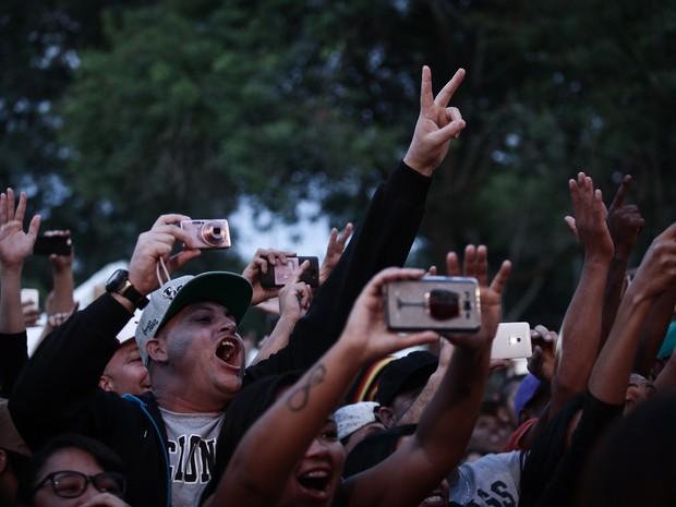 Show de Mano Brown no Palco Jardim Helena, na Zona Leste de São Paulo, na Virada Cultural (Foto: Caio Kenji/G1)