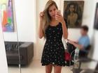 Adriana Sant'anna posta selfie e conta que está tratando estrias