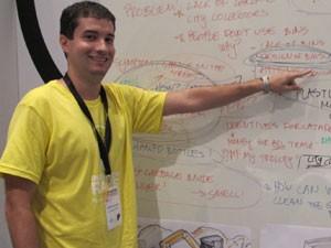 Leonardo Costa, doutorando em química da UFF (Foto: Paulo Guilherme/G1)