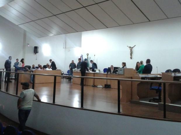 Julgamento de acusados de matar adolescente durou dois dias no Fórum de Cuiabá (Foto: André Souza/G1)