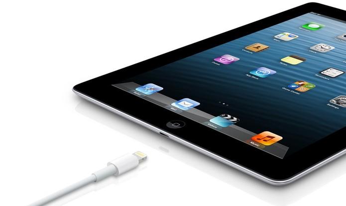 iPad 4 é o primeiro modelo com o cabo lightning da Apple (Foto: Divulgação/Apple)