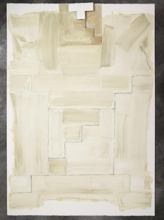 O artista também utiliza a técnica de óleo sobre papel nas suas obras (Foto: Divulgação)