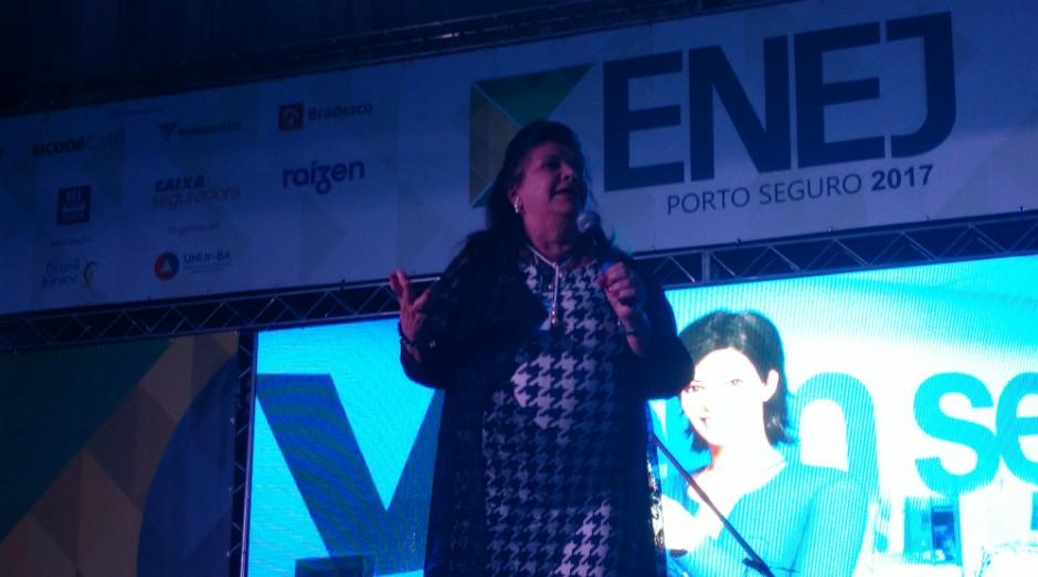 Luiza Trajano durante apresentação no ENEJ 2017 (Foto: Adriano Lira/Editora Globo)