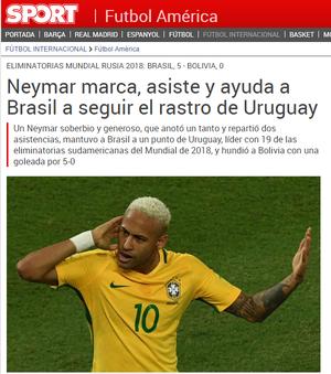 Destaque Sport Neymar (Foto: Reprodução)
