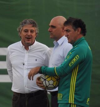 Paulo Nobre Mauricio Galiotte Cuca Palmeiras (Foto: Felipe Zito)