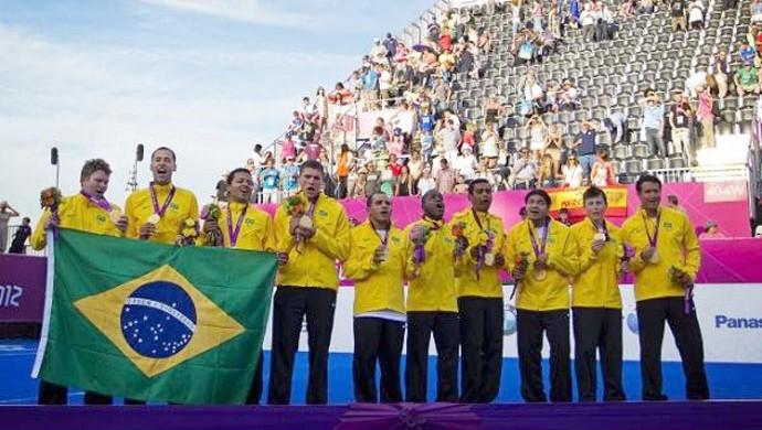 Seleção Brasileira de futebol de 5 (Foto: Márcio Rodrigues/CPB)