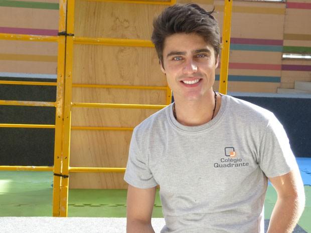Guilherme Leicam além de gato e bom ator, manda bem nos esportes (Foto: Malhação / TV Globo)