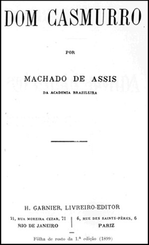 Folha de rosto da primeira edição de Dom Casmurro (Foto: Reprodução)