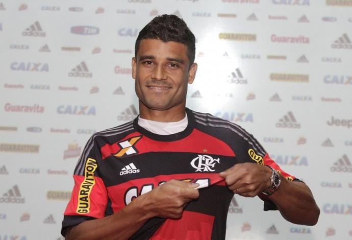 Ederson Flamengo apresentação Gávea (Foto: Gilvan de Souza/Flamengo)
